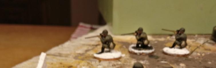 Die Sniper für den Sumpfeinsatz. Das lange Bein ist bereits abgeknapst.