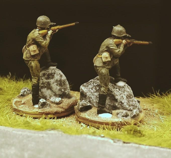 Die beiden Scharfschützen der 26. Schützendivision.