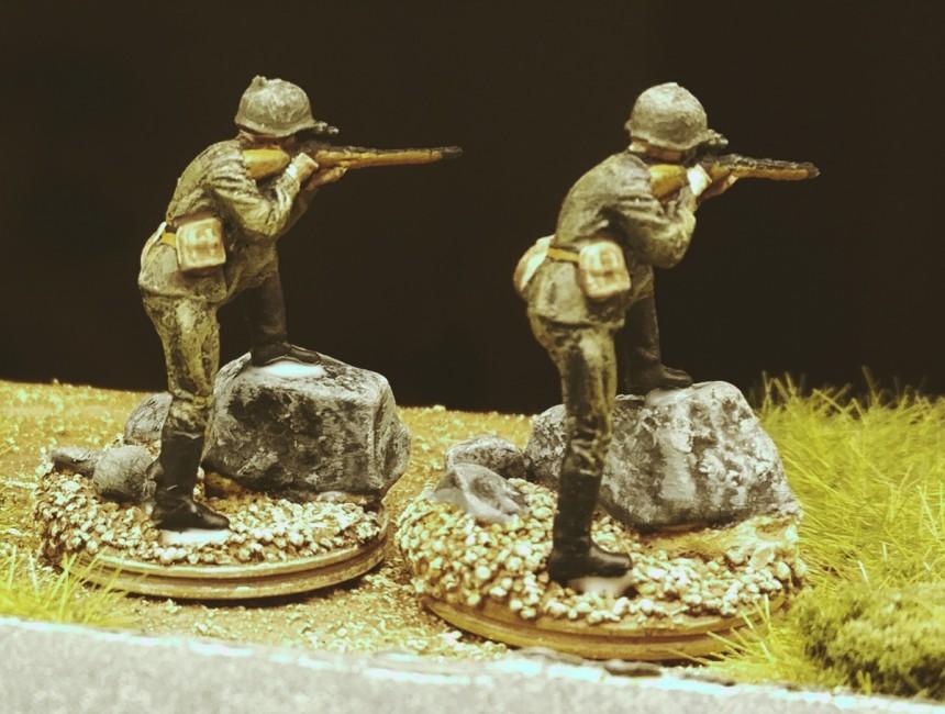 Die beiden Scharfschützen der 30. Schützendivision.