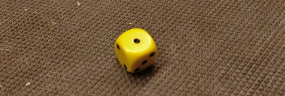 """Beim Erwürfeln der Abweichung fällt eine """"1"""" - keine Abweichung. Der Segen geht in exakt den Squares nieder, die der Spieler der deutschen Fraktion anvisiert hat."""