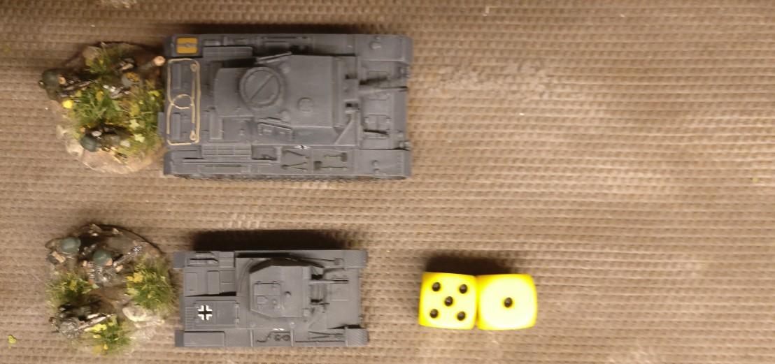 Für den zweiten Panzer II werden 6 APs erwürfelt.