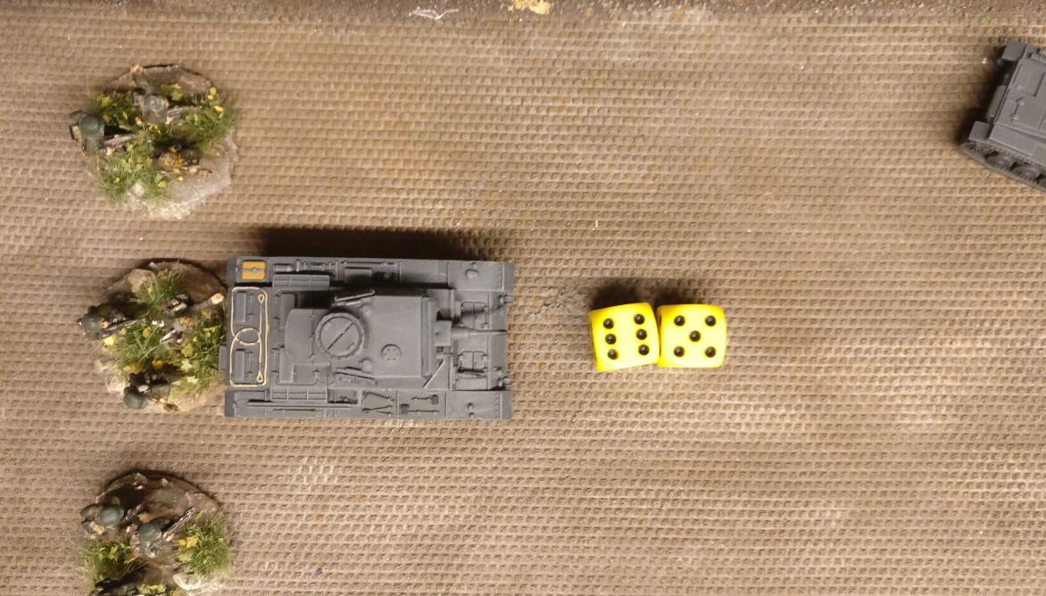 Der zweite Panzer III greift in die Kämpfe ein. Er attackiert ebenfalls das Heizhaus, jedoch das linke Square.