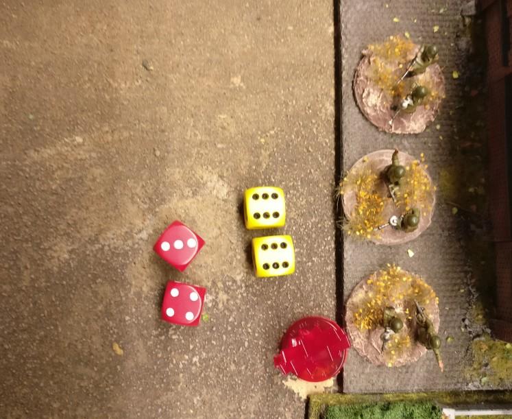 """Die beiden Treffer werden vom verteidigenden Spieler mit einer """"3"""" und einer """"4"""" gesaved. Auch hier wird im Closed Square der Werkshalle mit 2,3,4,5,6 gesaved."""