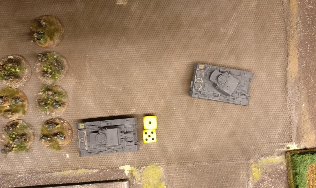 Der Panzer III erzielt 6 APs.
