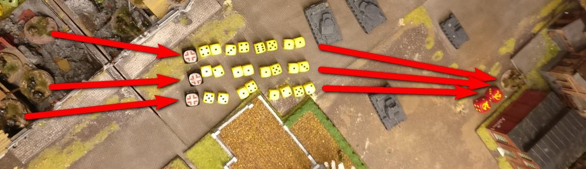 Mit diesem Schwarm an Trefferwürfeln geht es gegen das Heizhaus!