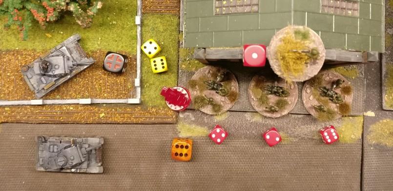 """Alle Foot Groups im Square saven. Es erwischt den Sniper, der eine """"1"""" zum Saven würfelt."""