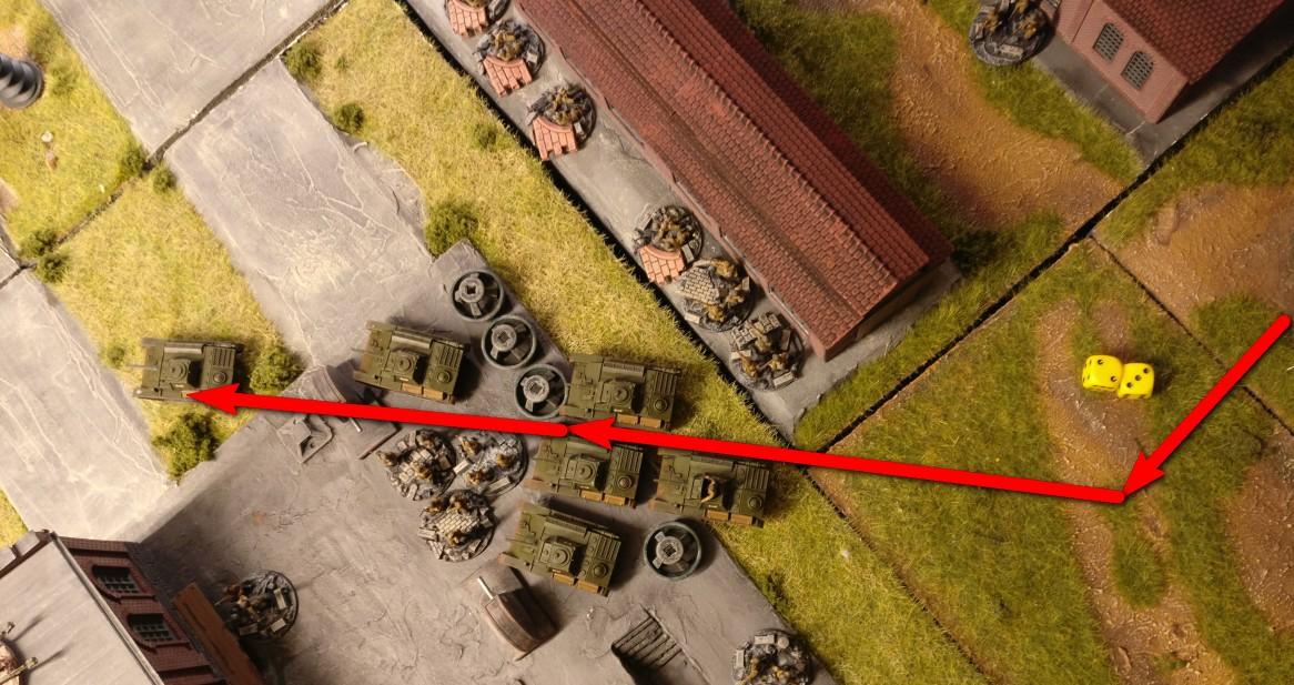 Hier der Marsch der T-70 Richtung Front.