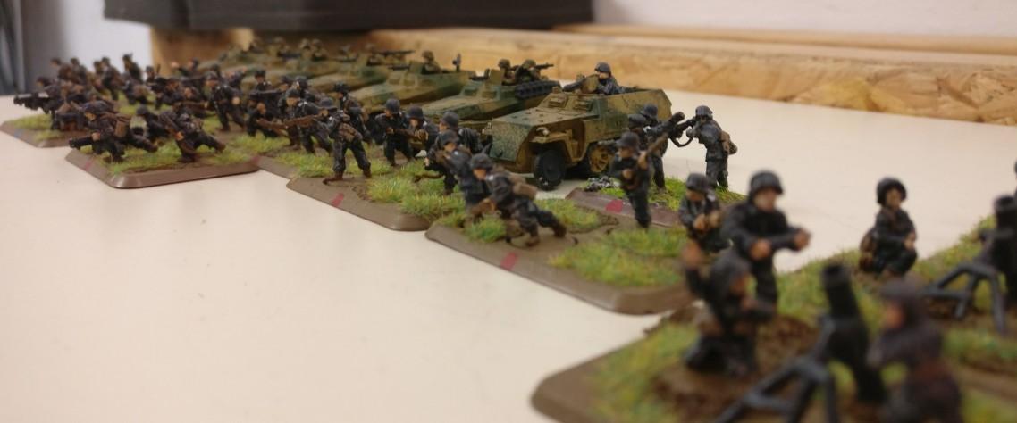 Für den deutschen Spieler stehen vor allem Panzergrenadiere mit Schützenpanzerwagen bereit.