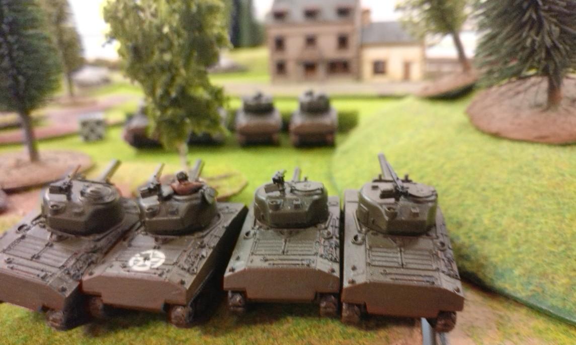 Mit dem Sturmi kommen auch vier 105mm-Schörmis ins Spiel.