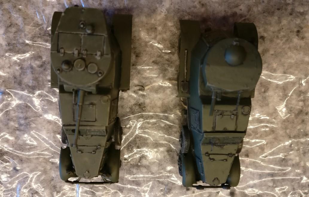 Auch von oben gefallen mir die beiden Soviet Armored Car BA-1/BA-6 jetzt schon ganz gut.
