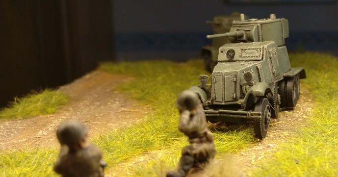 Der zweite Panzerwagen BA-6 mit seiner 45mm-Kanone
