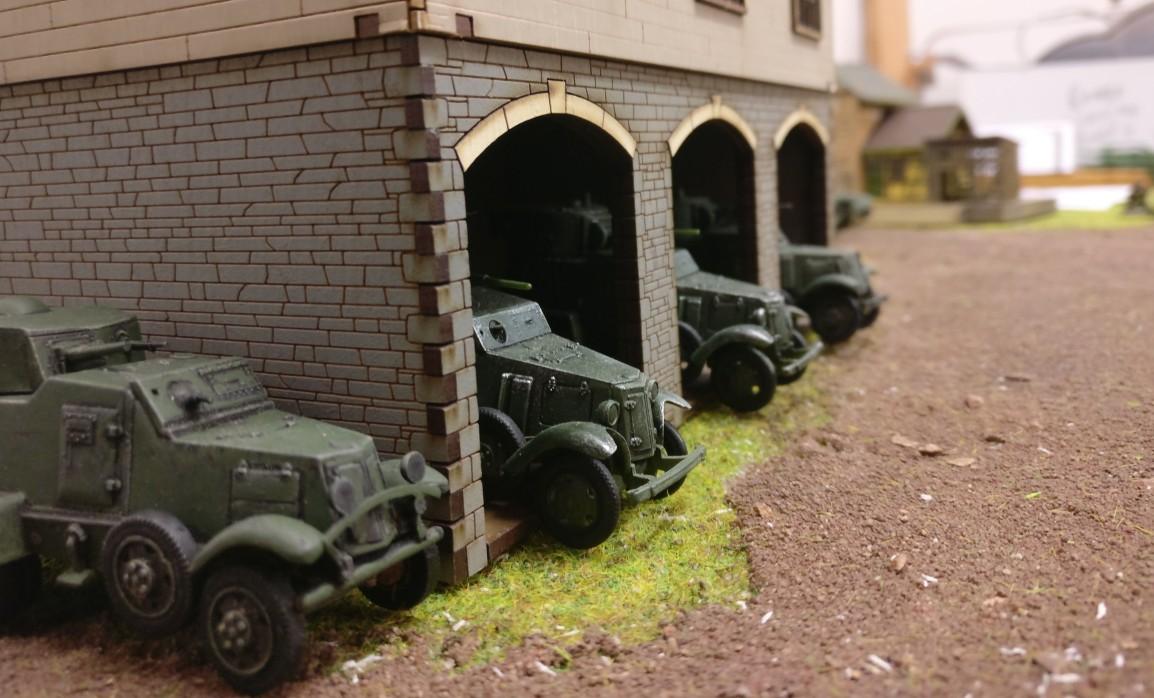 """Die Truppen der Roten Armee im Szenario """"Flussübergang am Pripjet""""."""