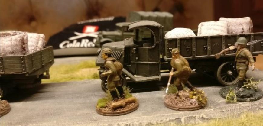 Für Ermüdungserscheinungen bei lang anhaltenden Gefechten wurde hinreichend Wach-Mach-Sach beschafft.