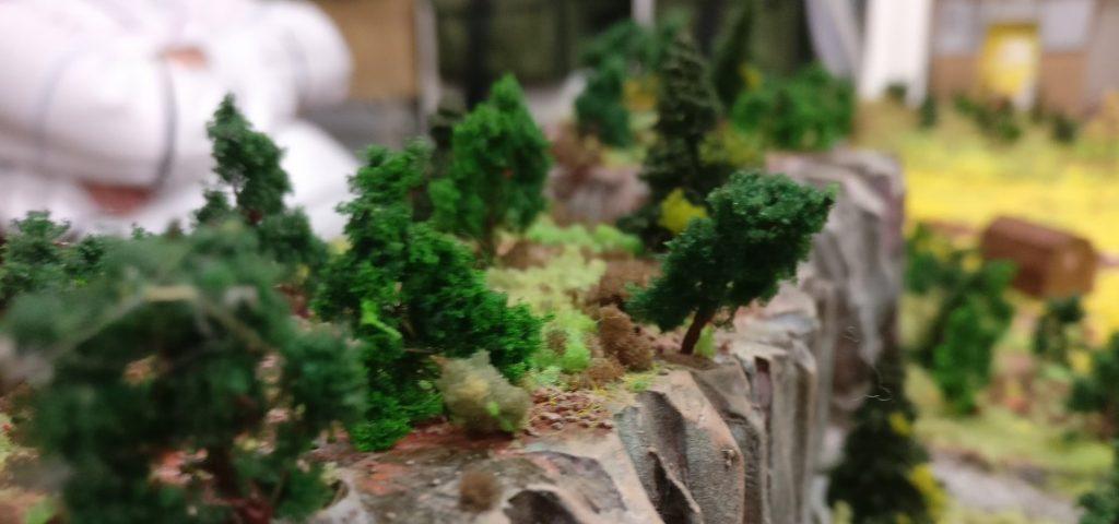 Das Bergmassiv wurde ausgiebig bepflanzt.