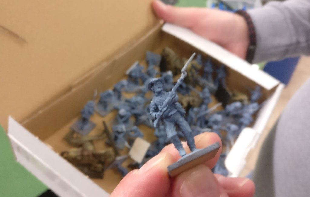 Die Armee im Aufbau für das ACW Szenario.