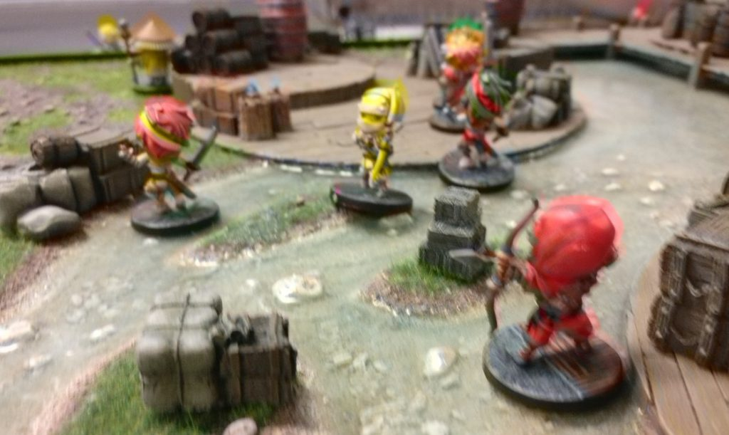 Eine Szene des Spiels mit Ninja All Stars