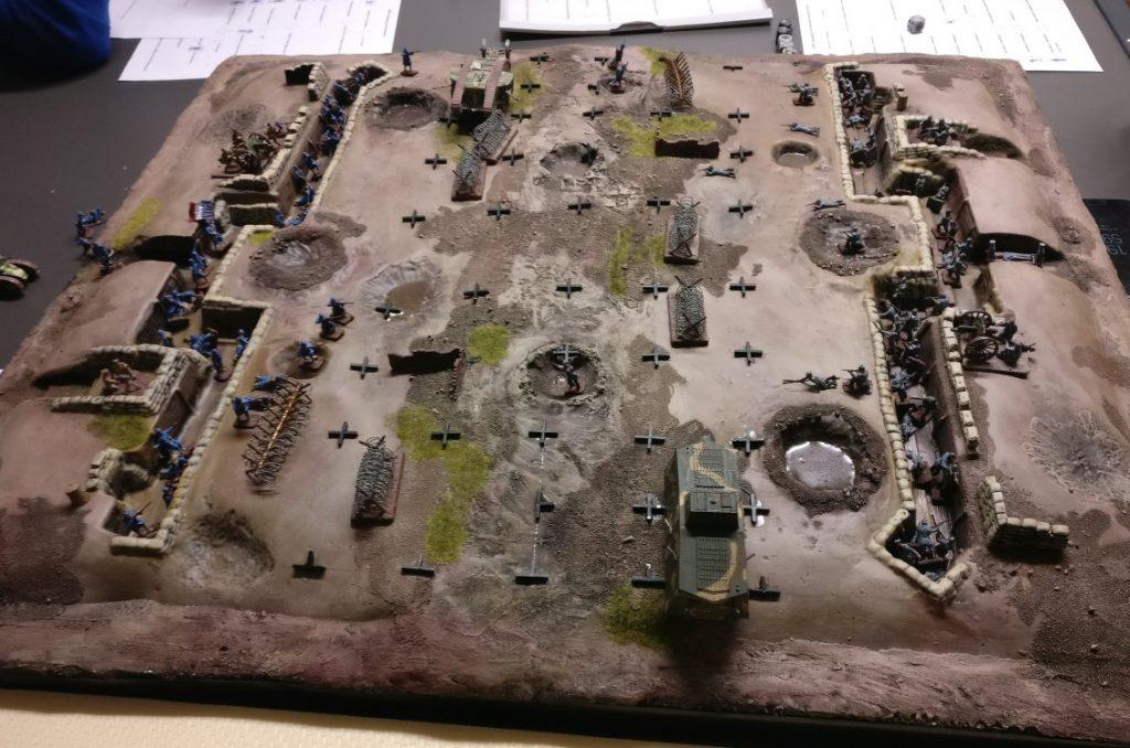 Das selbstentwickelte Spielfeld von Udo Zipelius aus den beiden Airfix A50178 Battle of the Somme Centenary Gift Set 1:72