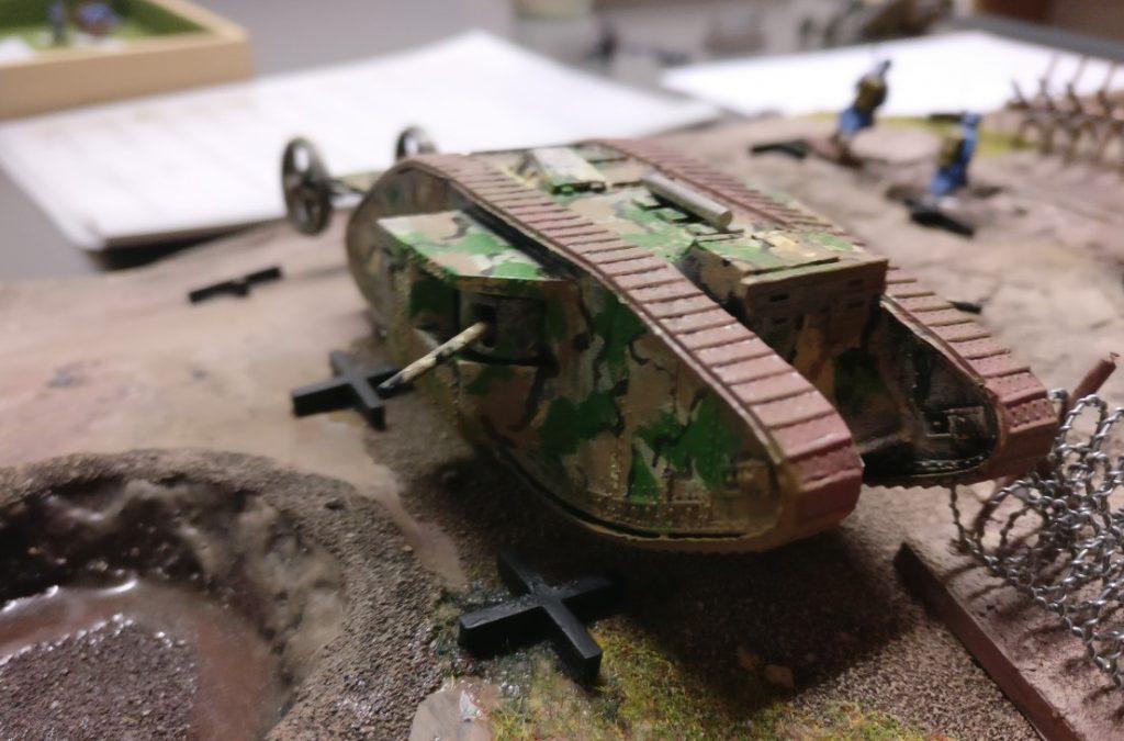 Der britische Mark IV Tank.
