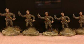 Die hässlichen Mörser des Esci Set 203 Russian Soldiers