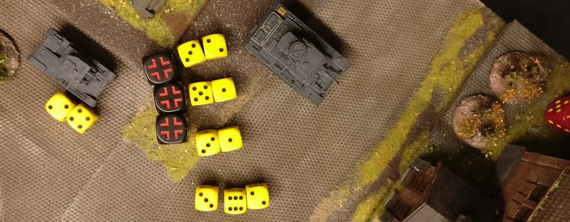 Der Panzer II nimmt sich ebenfalls die verbliebenen Rotarmisten im Heizhaus vor.