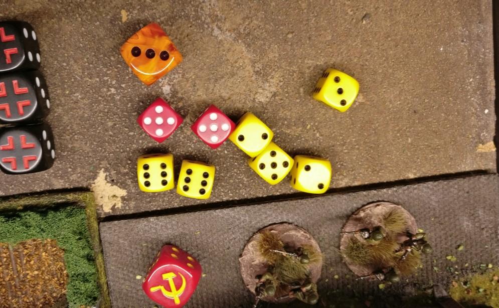 2 Treffer fallen, doch die Rotarmisten liegen gut in Deckung und saven.