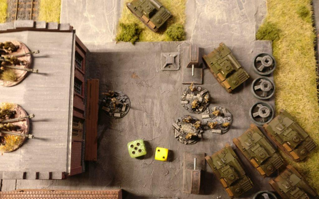 Auch diese Foot Groups des gleichen Platoons werden aktiviert und sie besetzen das Gebäude.
