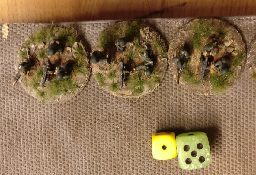Die Truppe mit ihren MG 42 aber legt los. Zwar nur mit einem AP, aber dafür mit vollem Elan.
