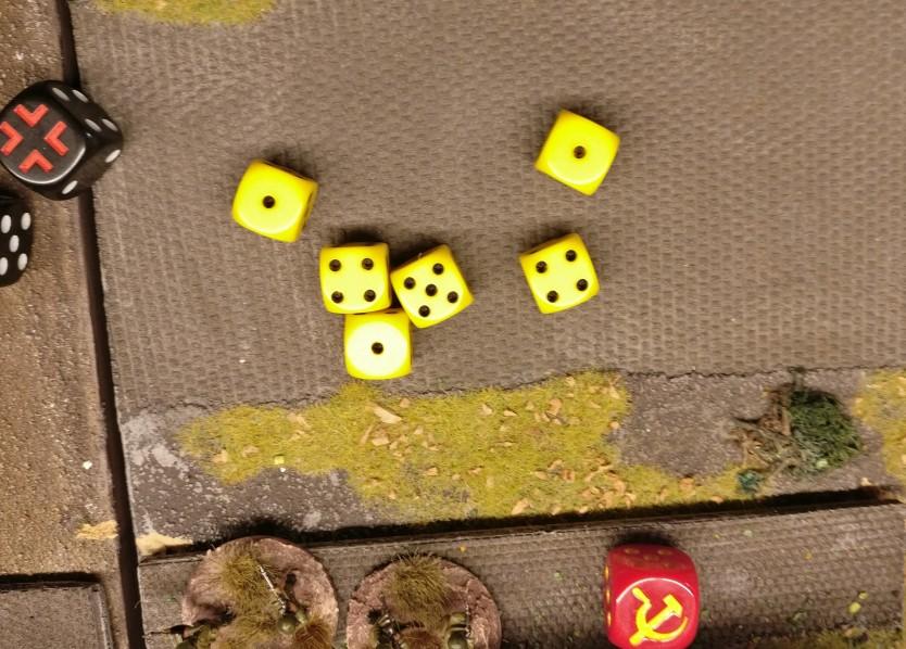 """Leider wird Fortuna nicht vom Enthusiasmus des Panzerkommandanten erfasst. Kein """"6""""er-Treffer ist dabei."""