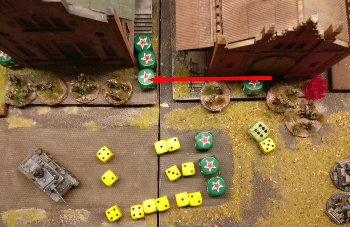 """Das heldenhafte Square wird mit einer """"6"""" standesgemäß aktiviert. """"5"""" APs reichen für ein kleines Feuerwerk."""