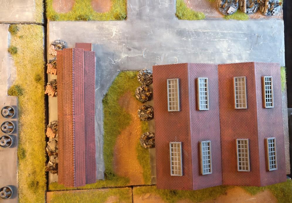 """Eine weitere Stellung in der hintersten und damit dritten Verteidigungslinie ist dieses Infantry Platoon. PBI/Poor Bloody Infantry Game """"Wjasma"""": 30. Armee der Roten Armee vs. 7. Panzerdivision der Deutschen Wehrmacht"""