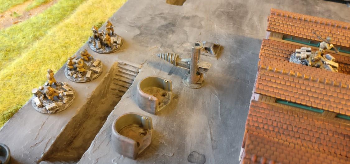 Ein leichter Granatwerfer/Mortar und eine LMG Group wurden dem Platoon ebenfalls mitgegeben.
