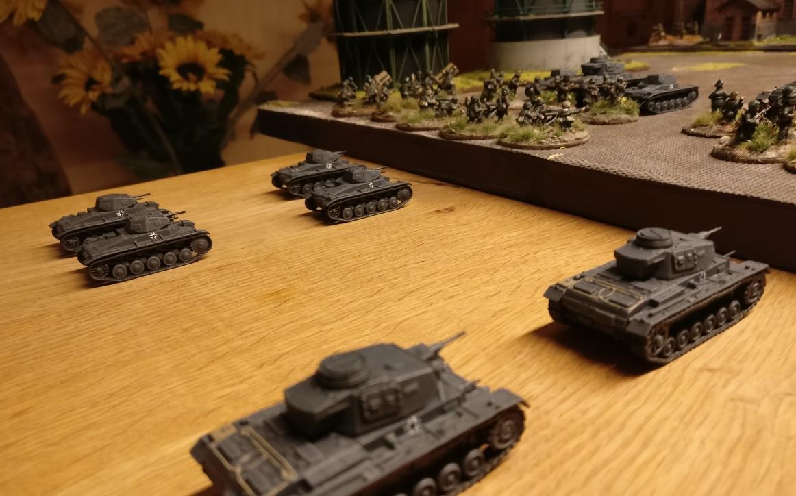 Die Reserven des Panzerregiment 25