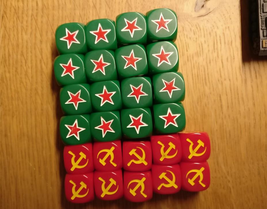 Die Casualty Marker der Roten Armee...