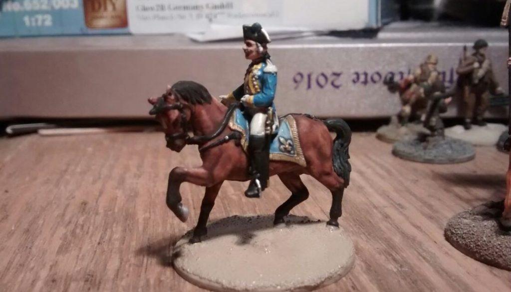Ein Offizier aus dem Italieri 6180 Siebenjähriger Krieg Nordamerika Set.