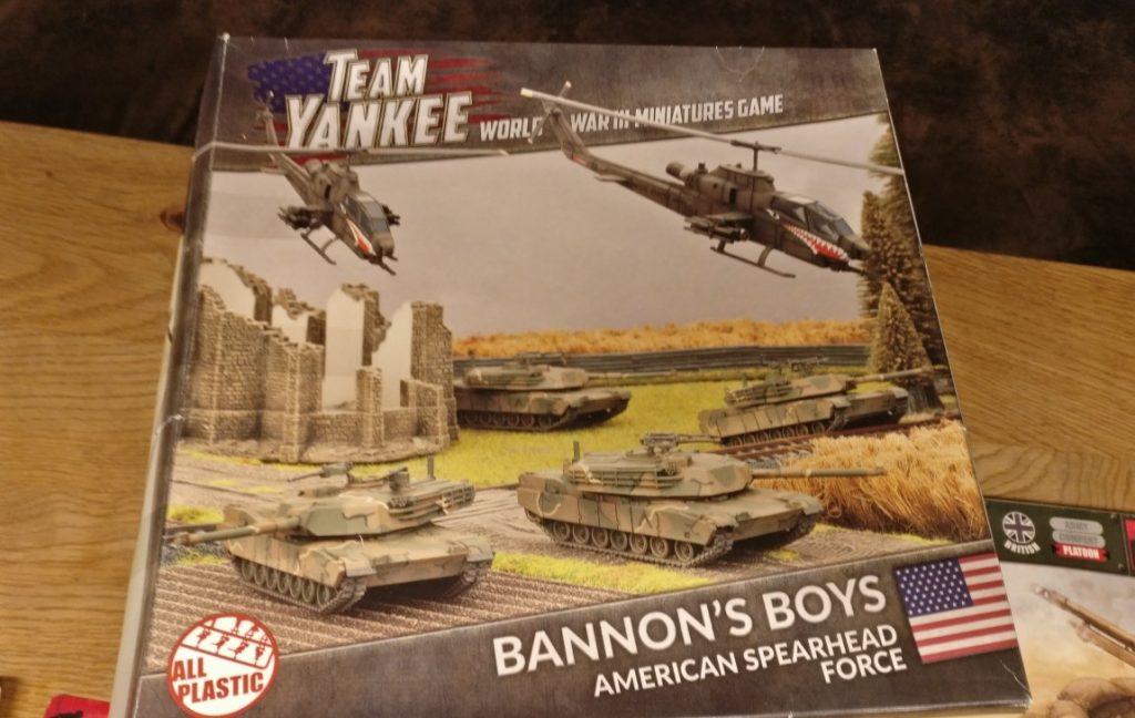 """""""Bannon's Boys"""", das Set mit dem M1 Abrams von Flames of War liefert etwas Kanonenfutter für die T-72. Ein paar Leoparden wären mir lieber gewesen. Aber es ist ein Einstieg in Team Yankee von Flames of war."""