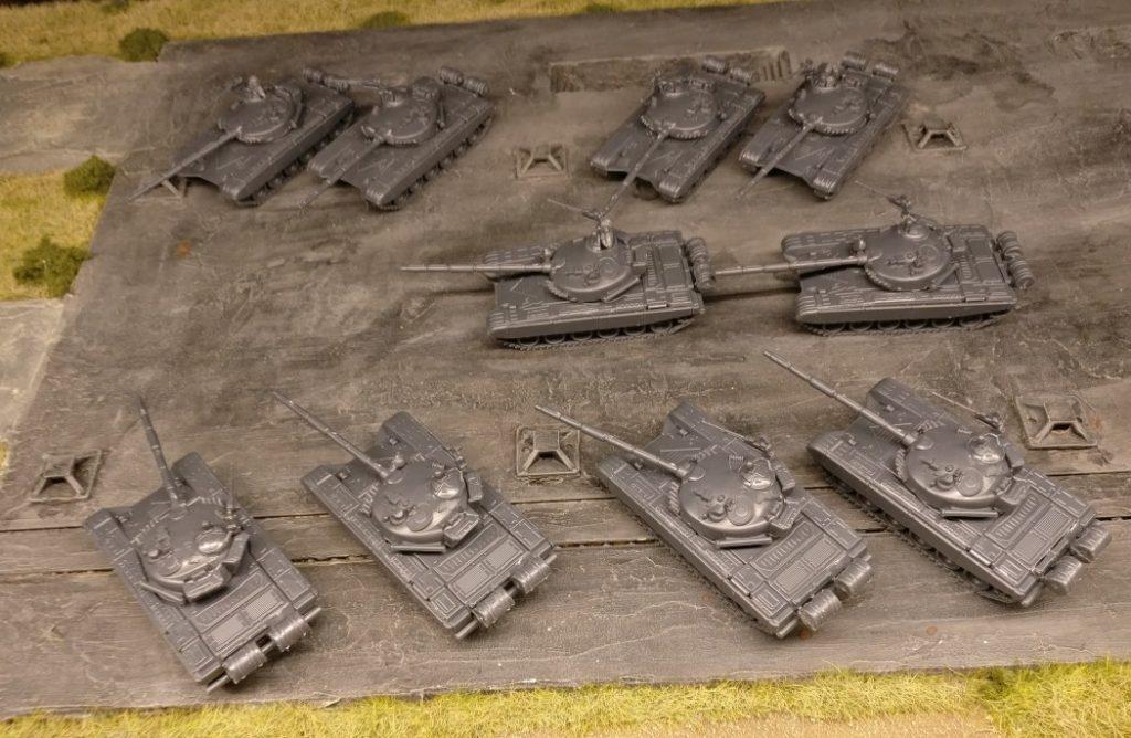 Hier die zehn T-72 von Potecknov's Bears. Die werde ich sicher zuerst bepinseln.