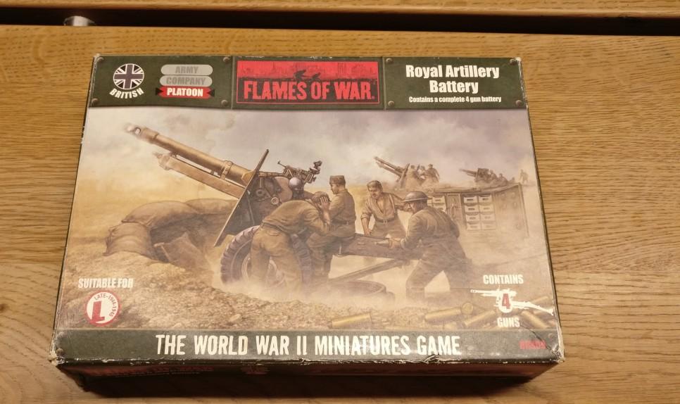 Auch von Flames of War: die Royal Artillery Battery.
