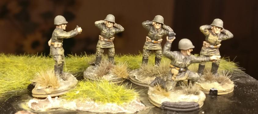 Die 81mm Granatwerfer des 44. Schützenregiments erhielten zusätzliche Bediener für ihre Mortar-Teams.