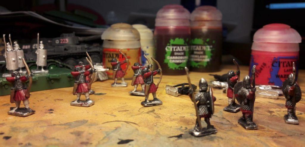 Die ersten Bogenschützen der Legiones Commoti für DBMM (und Armati?)