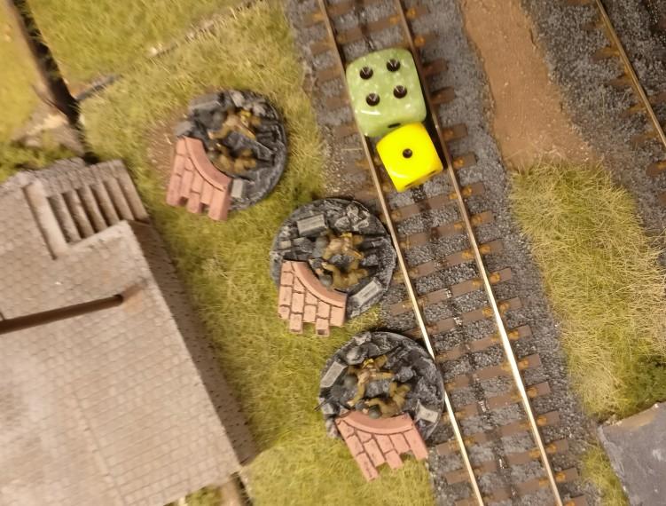 Die drei LMG Groups feuern auf die gleichen deutschen Truppen wie schon die HMGs.