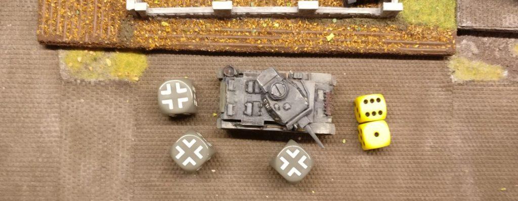 Der zweite Flammpanzer III nutzt seine 7 APs.