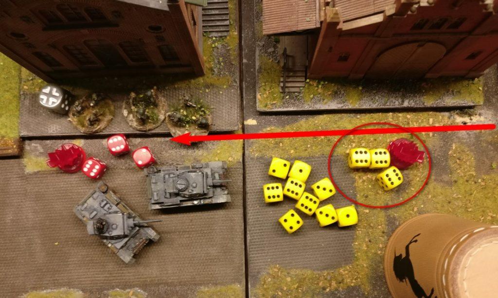 3 Treffer zum Pinnen und noch 3 Treffer auf Kill.  Trotzdem hat man gesaved.