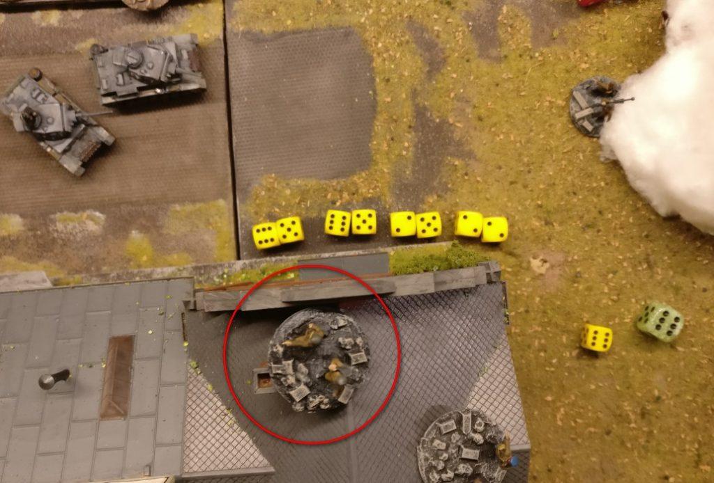 Einen LMG-Schützen haben wir auch noch. Er feuert ebenfalls drei Salven ab.