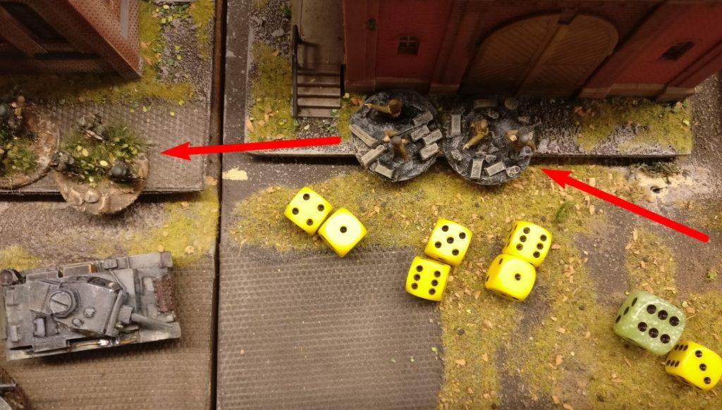 Der sprintet mit dem Panzerbüchenschützen nach vorne und feuert aus allen Knopflöchern.
