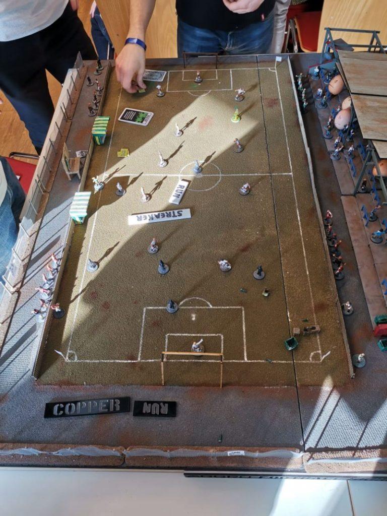 AGGRO: Spieltisch Streakers Run auf der Tactica Hamburg 2019