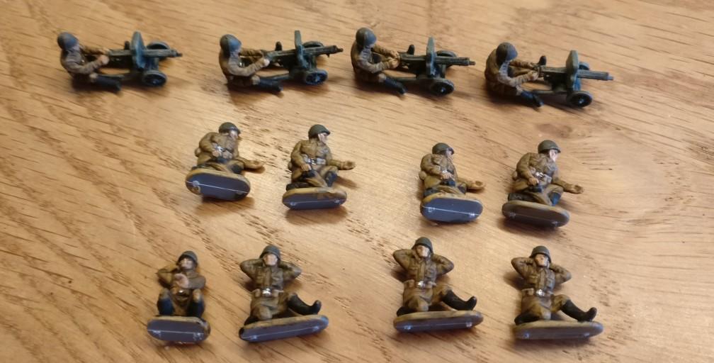 Hier die fertigen HMG-Schützen & Bediener aus dem Set 15mm WW2 Russian Infantry Heavy Weapons