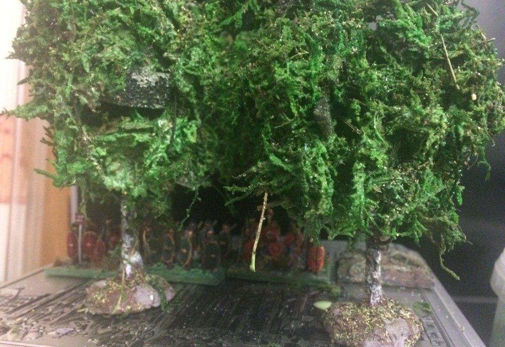 XENAs Bäume. Selbstgefertigt from Scratch natürlich. Scenery fürs Battlefield aus Monnem.