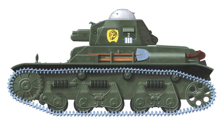Der franzosische Panzer Renault R-35 bildete die Grundlage für einen Kampfpanzer der rumänischen Armee. (#1)