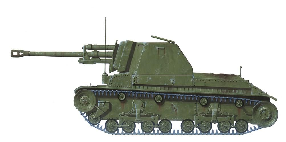 Der TACAM R-2 (Tun Anticar pe Afet Mobil - Selbstfahrende Pak)  basierte auf dem veralteten leichten Panzer R-2 und verwendete die erbeutete russische Feldkanone 7,62cm M-1936 F-22 in Manier des deutschen Panzerjäger Marder. (#2)