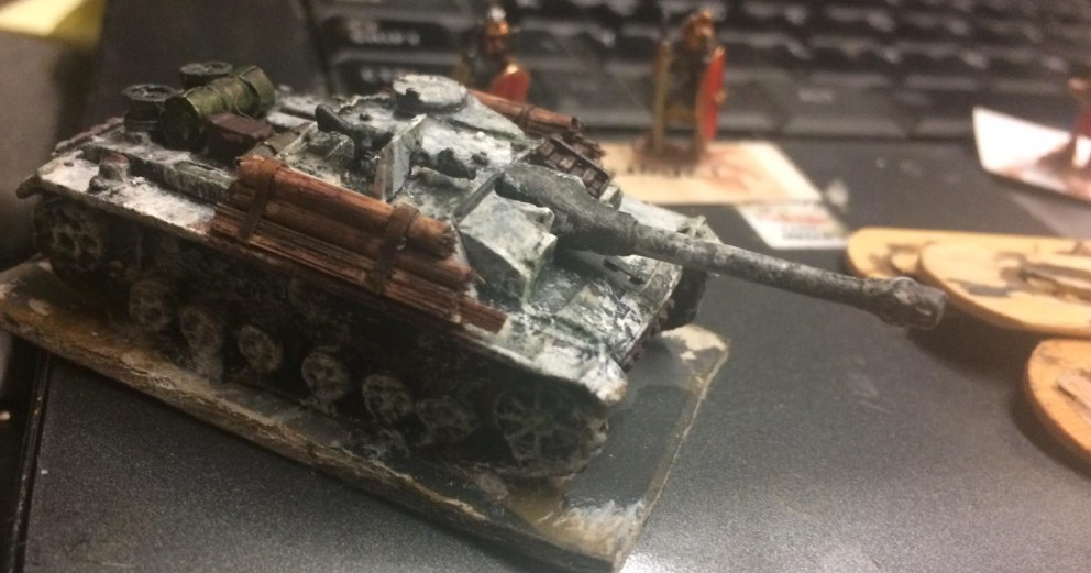 Ein vergammeltes finnisches StuG III oder so...